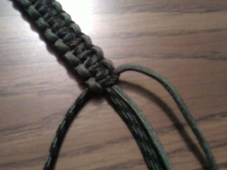 Measure your waste, and subtract a few inches.  Keep braiding the belt until you reach that length.